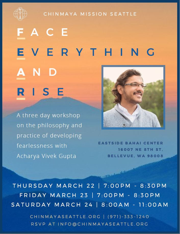Vedantic Workshop by Acharya Vivekji @ Eastside Bahai Center | Bellevue | Washington | United States
